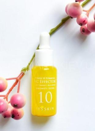 Осветляющая сыворотка для лица с витамином c it's skin power 1...