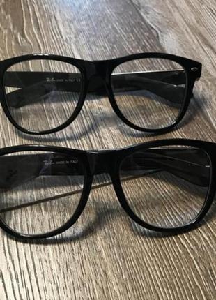 Имиджевые очки в черной оправе