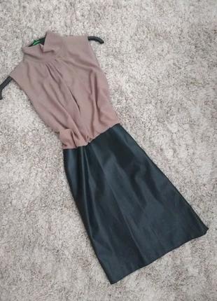 Дуже гарне плаття шифон+шкіра