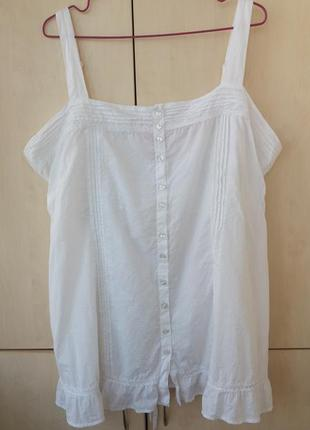 Блуза-топ тонкий хлопок 3xl