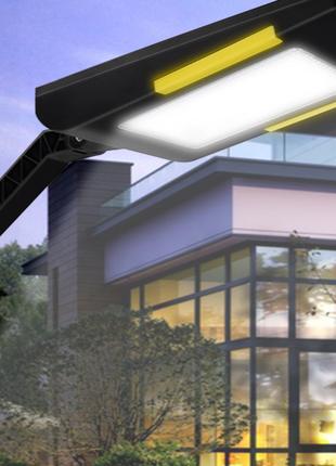 Лампа светильник 54 LED с датчиками света движения 3 режима работ