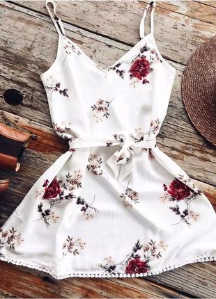 Платье пляжное летнее комбинация платя літнє пляжне