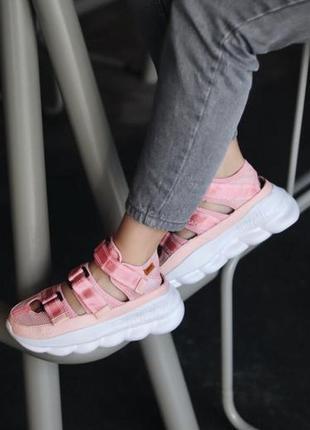 Женские сандалии versace sandal pink ◈ босоножки на платформе ...