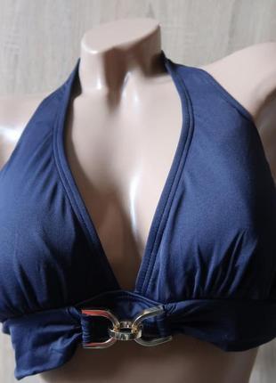 Купальник верх бюстгальтер синий michael kors р-р l