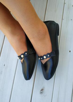 Удобные женские балетки, туфли черного цвета