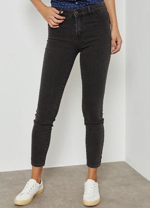 Серые джинсы mango скинни винтаж мам джинсы с высокой талией