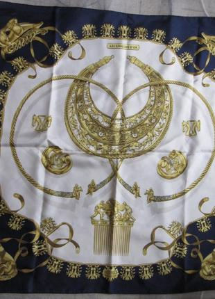 Платок шелковый винтаж оригинал раритет hermes paris