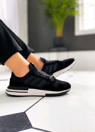 "Кроссовки Adidas ZX 500 RM ""Black/White"""