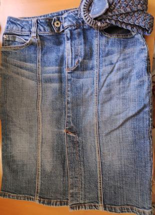 Юбка джинсовая, по колена Размер 36  Идеальное состояние