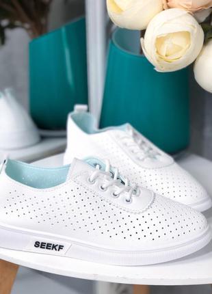 ❤ женские белые кеды мокасины кроссовки ❤
