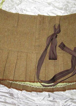 Юбка мини дорогого бренда шерсть шелк abercrombie and fitch