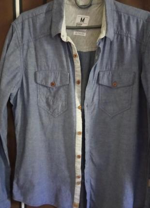 Мужская джинсовая рубашка, размер м.