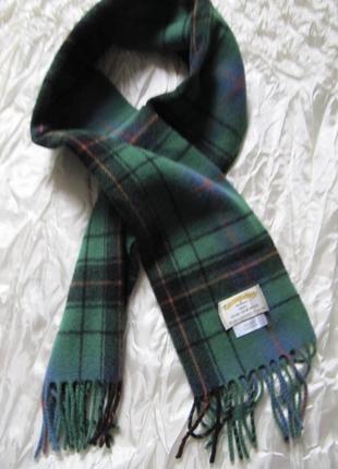 Шарф шотландская клетка тартан ancient devinson зеленый james ...
