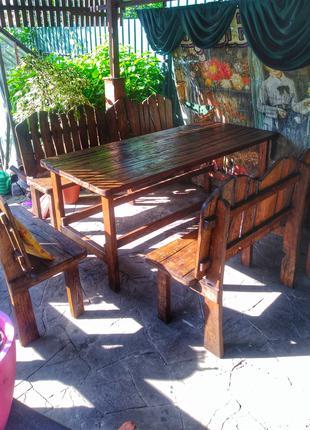 Стол и лавки садовые