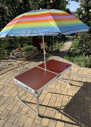 Стол для пикника усиленный +4 стула