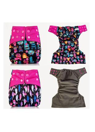 Многоразовые подгузники для девочки розовый mumbest lux тренир...
