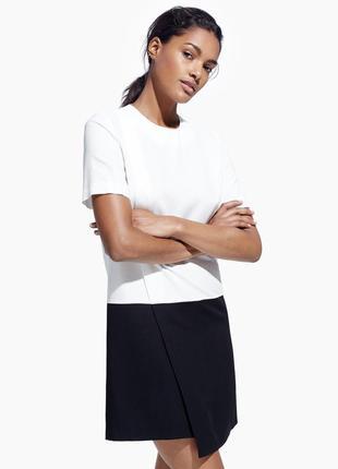 Черно-белое платье mango