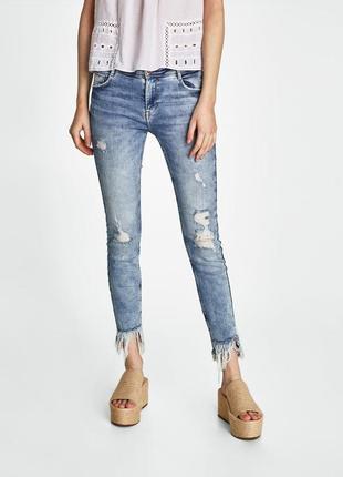 Вываренные джинсы zara размер 34