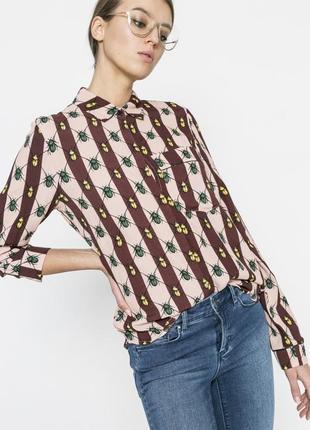 Рубашка с принтом жуки vila