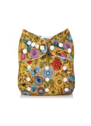 Многоразовый подгузник для девочки с цветочками mumbest lux тр...