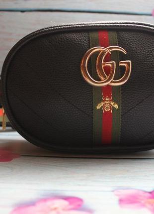 Женская Полукруглая бананка (сумка на пояс) Бренд GG Gucci (Гуччи