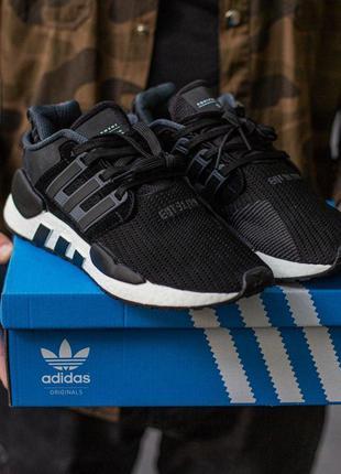 Adidas eqt support в черном цвете мужские кроссовки адидас (41...