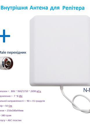 Антенна панельная внутренняя Репитер GSM 900 1800 2100 2600
