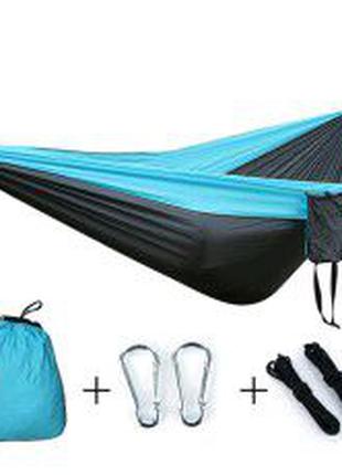 Подвесной нейлоновый туристический гамак Travel hammock