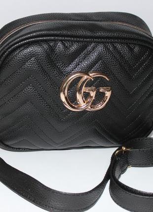 Сумка Gucci GG из Эко-кожи цвета Золото,Серебро,Черный,Графит
