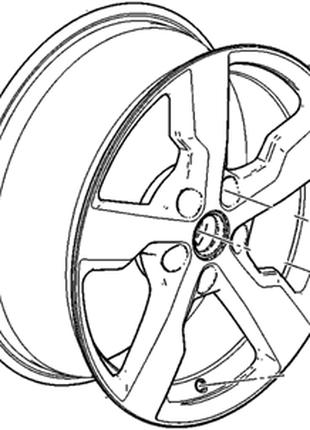 Комплект дисков R17 x 7J 5*115 4шт Chevrolet Volt 11-15 мат 95990