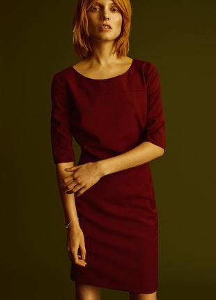 Платье-футляр винного цвета karen by simonsen
