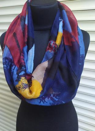 Легкий снуд круговой шарф хомут