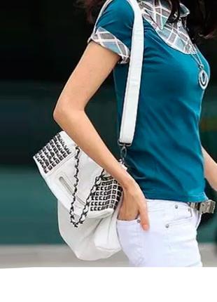 Белая сумка через плечо трансформер