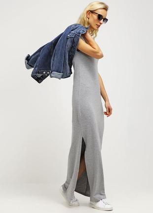 Длинное трикотажное платье-майка vila
