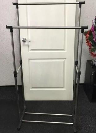 Вешалка для одежды Напольная Double Clothers Pole Двойная 30 кг