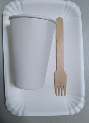 """Набор одноразовой посуды на 6 персон """"Эко Пикник"""" без ножей"""