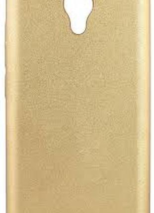 Накладка Case Leather для Meizu M5 Gold