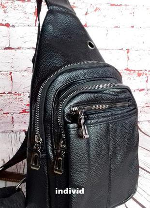 Кожаный рюкзак jeep. сумка мужская на плечо. мужская барсетка....