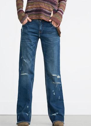 Широкие джинсы zara 34 размер
