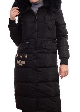 Зимняя длинная куртка с капюшоном размеры s,l, xxl