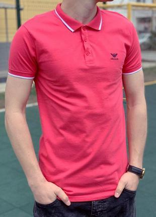 Мужская футболка поло, ткань трикотаж лакоста emporio armani, ...