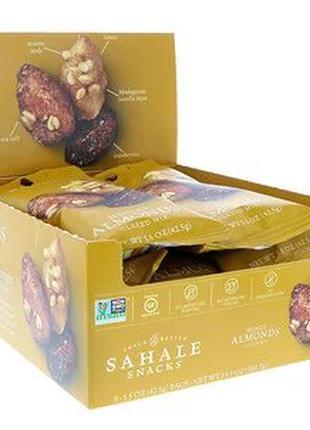 Sahale Snacks,Глазированная смесь,миндаль в меде,9 пак. ( 42 гр)