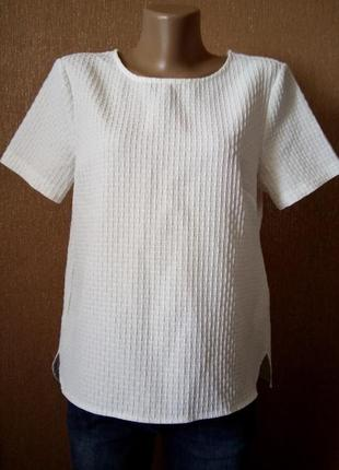 Блузка из фактурной ткани размер 12 new look