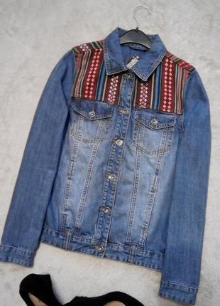 Пиджак джинсовый размер 8-10 bellfield
