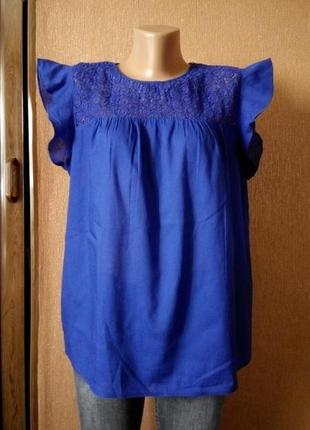 Блузка с кружевом размер  12-14 zara