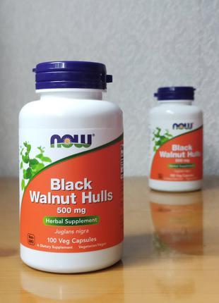 Черный орех от паразитов Now Foods, 500 мг, 100 капсул