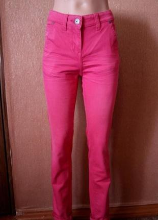 Котоновые штаны с высокой посадкой размер 8