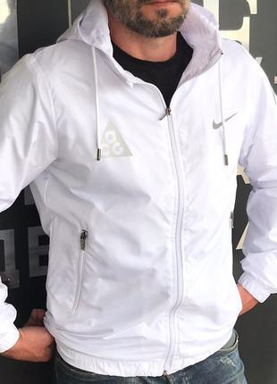 Ветровка капюшон белая РЕФЛЕКТИВ N*KE❗️