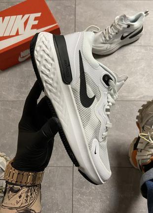 Nike epic react flyknit 3 white black мужские кроссовки