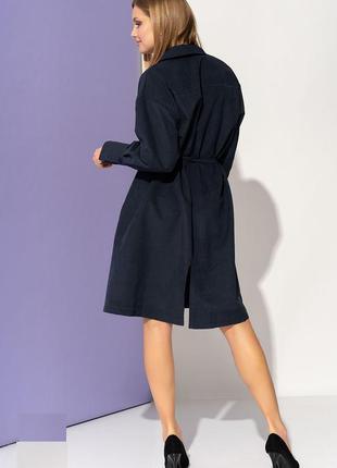 Oversize-платье с поясом синий